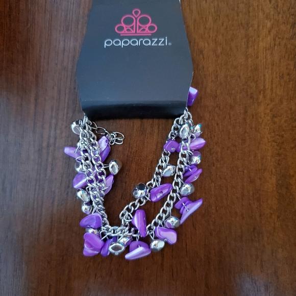 Purple pebble bracelet